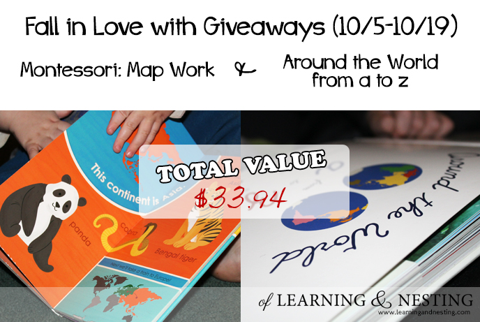 Preschool Geography and a Montessori book giveaway!