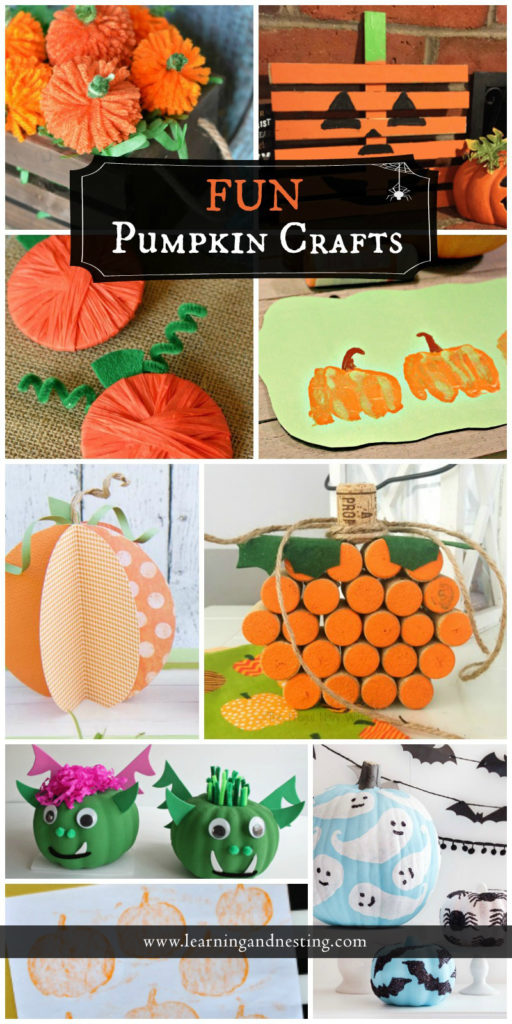 There's something for everybody in the family to do with this great selection of fun pumpkin crafts.